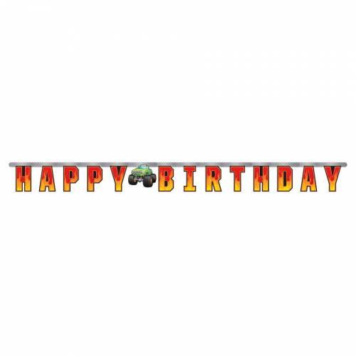 Guirlande Lettre Happy Birthday Monster Truck Rally