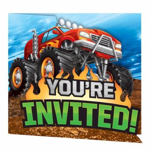 8 invitations Monster Truck Rally