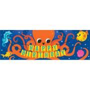 Bannière Lettre Happy Birthday Océan