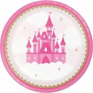 8 Assiettes Château Princesse