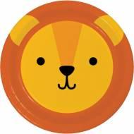 8 Assiettes Lion