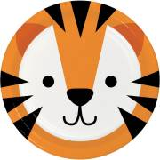 8 Assiettes Tigre