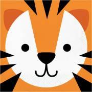 16 Serviettes Tigre