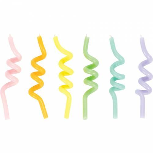 6 Bougies Spirales Pastel