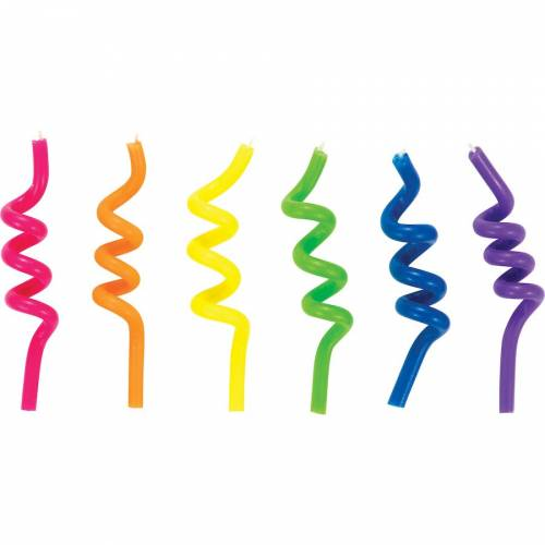 6 Bougies Spirales Rainbow
