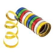 10 Serpentins Holographiques Multicolores (1,98 m)