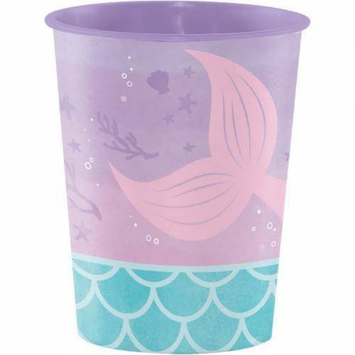 Grand Gobelet Sirène iridescent (47 cl) - Plastique