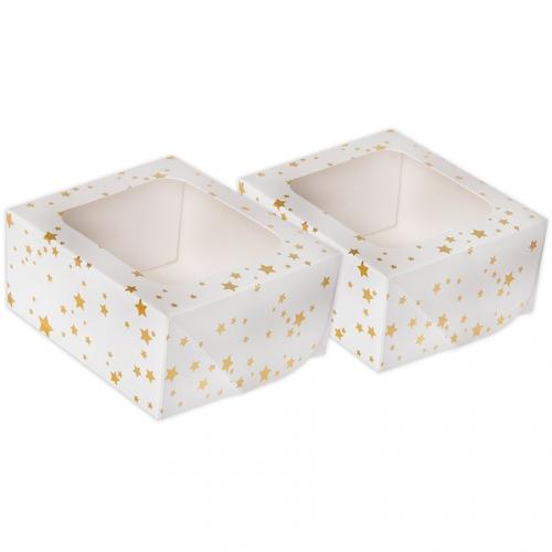 2 Petites Boites à Gâteau Etoile - Or