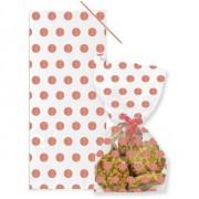 20 Pochettes Cadeaux à pois - Rose Gold