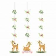 3 Guirlandes Faon Floral