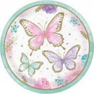 8 Assiettes Papillon