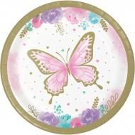 8 Petites Assiettes Papillon