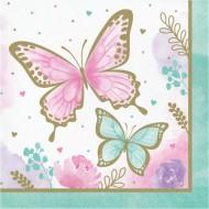 16 Serviettes Papillon