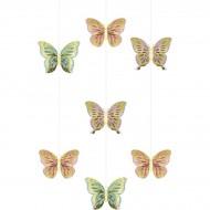 3 Suspensions Papillon
