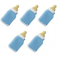 5 Décors Biberons bleu - Sucre