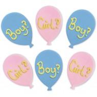 6 Décors Ballons Boy Or Girl - Sucre