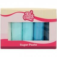 FunCakes Pâte à Sucre Multipack Palette Bleue  - 5x100g