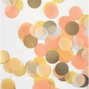 Confettis Mix 15g - Jaune/Or/Blanc/Orange/Pêche