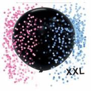 1 Ballon Baby Shower Fille ou Garçon ? + Confettis Rose et Bleu