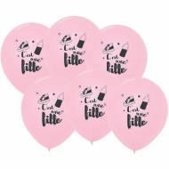 6 Ballons Roses - C'est une Fille 30 cm