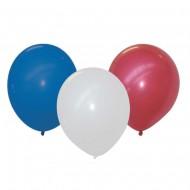 25 Ballons - Bleu, Blanc, Rouge Ø 30 cm