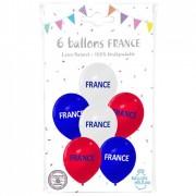 6 Ballons France  - Ø 30 cm