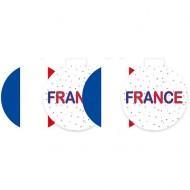 4 Décorations à Suspendre France en Carton - Ø 29 cm