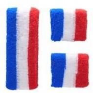 Lot de 2 Manchettes + 1 Serre Tête France