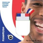Maquillage Fanbrush - Bleu, Blanc, Rouge