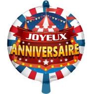 Ballon à Plat Joyeux Anniversaire Cirque