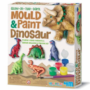 Kit de Moulage 6 Magnets Dinosaures Phosphorescents