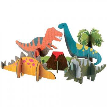 Puzzle Pop out Dinos 3D