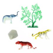 Set 3 Animaux de la Jungle + décors