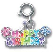 Pendentif Charm Happy Birthday (2,5 cm)