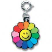 Pendentif Charm Fleur Smiley Rainbow (2 cm)