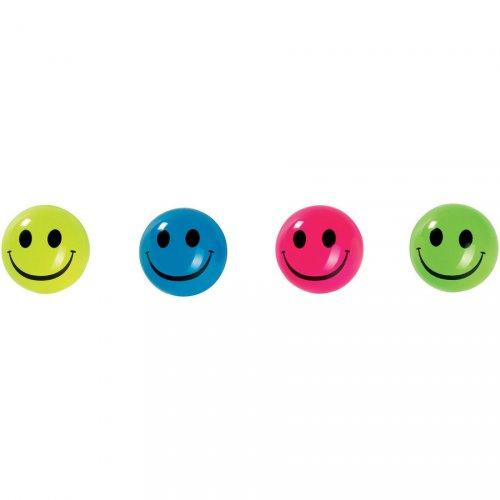 1 Balle rebondissante Smiley Néon (4 cm)