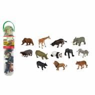 12 Mini Figurines Animaux Sauvages