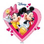 Disque Azyme Mickey & Minnie Coeurs