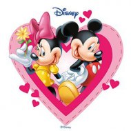 Disque Azyme Mickey & Minnie Coeurs