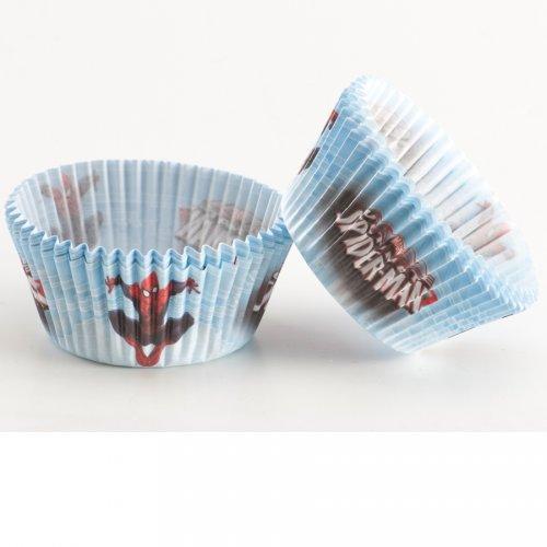 50 Caissettes à Cupcakes Spiderman