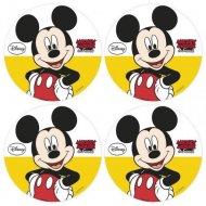 12 Mini Disques Mickey (4,5 cm) - Azyme