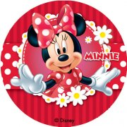 12 Mini Disques Minnie (4,5 cm) - Azyme