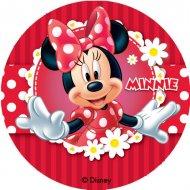 12 Mini Disques Minnie (4,5 cm) - Azyme