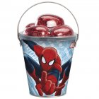 Seau et oeufs en chocolat Spiderman