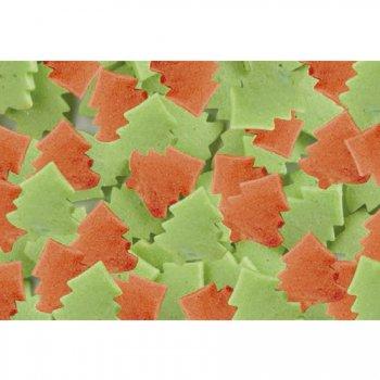 Sapins rouge et vert clairs à parsemer en sucre