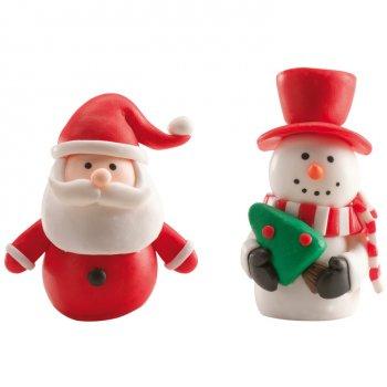 1 Père Noël et 1 Bonhomme de neige