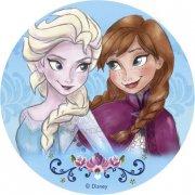 Disque en sucre Anna et Elsa - Reine des Neiges