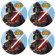 12 Mini Disques Star Wars (4,5 cm) - Azyme