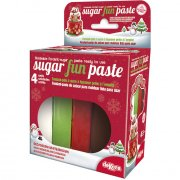 Pack P�te � sucre 4 couleurs No�l