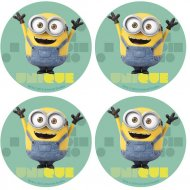 12 Mini Disques Minions (4,5 cm) - Azyme
